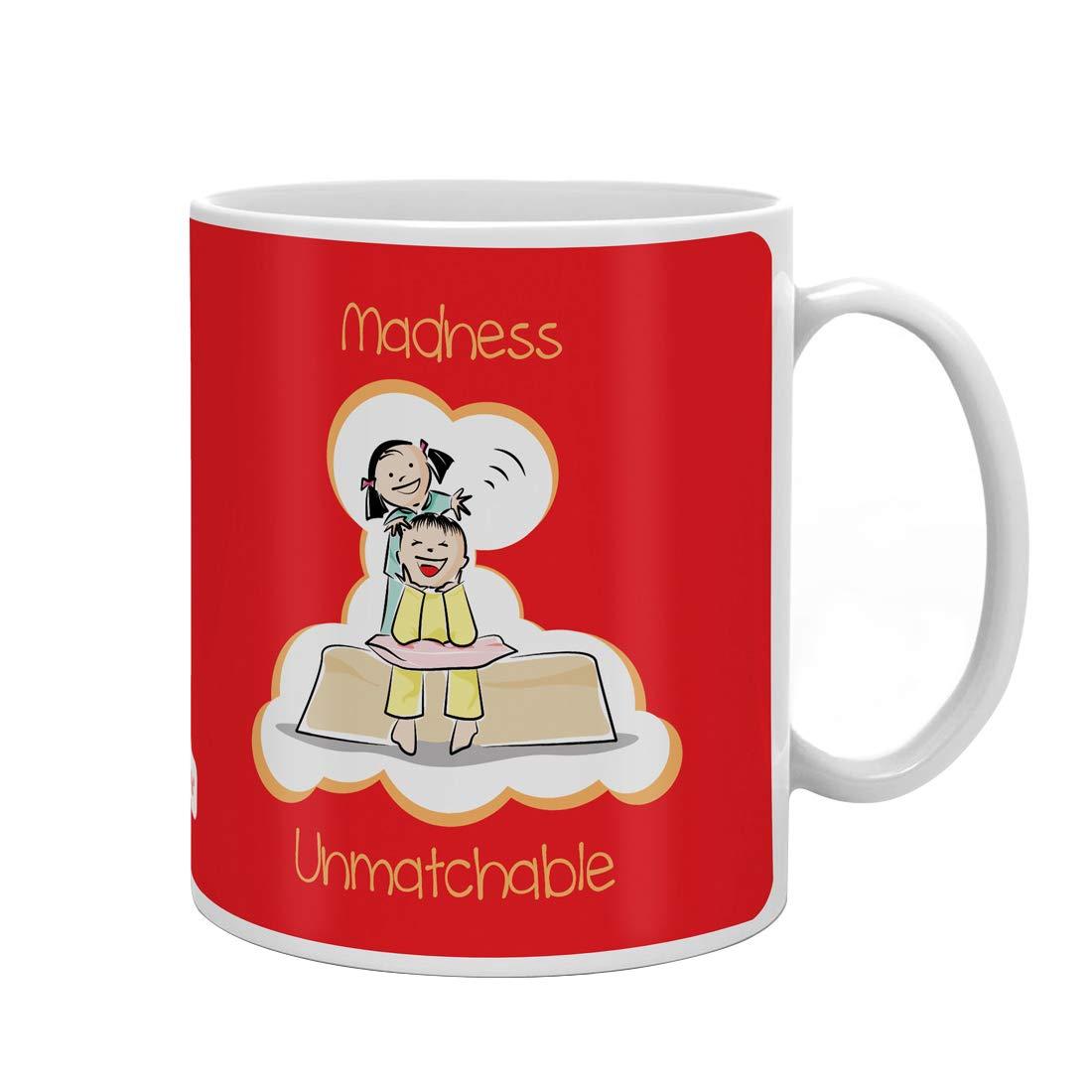 Indi ts Madness Unmatchable Quote Printed Gift Set Mug