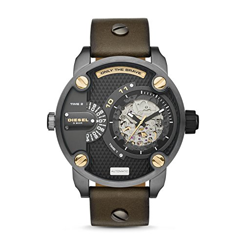 Diesel Men's DZ7364 The Daddies Series Japanese Automatic Brown Watch