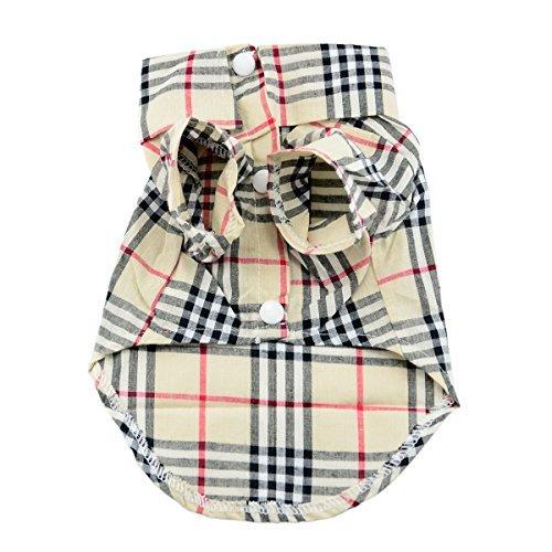 Paico Pet Fashion Plaid Pet Dog Clothes Shirt Size:L (Clothes Dogs)