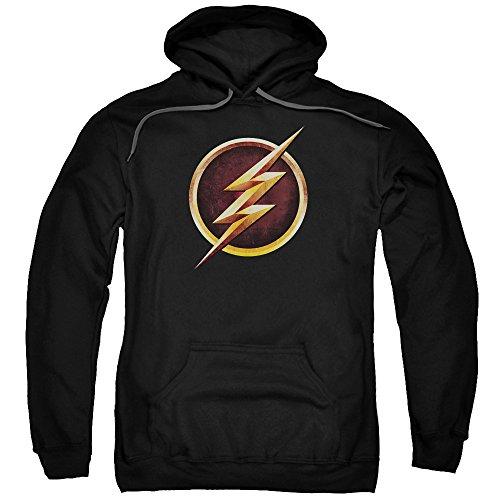 The Flash Bolt Logo CW's TV Series DC Comics Justice League Adult Mens T-Shirt Black (Dc Comics Flash Hoodie)