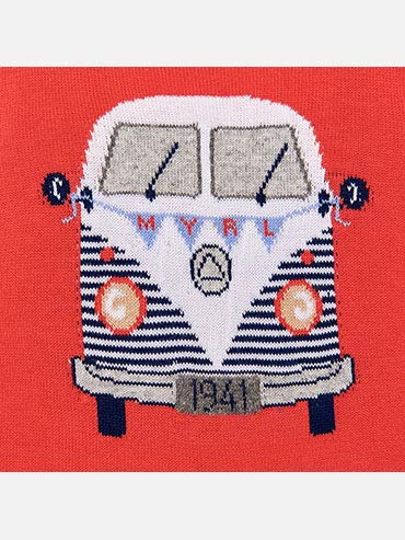 Party Van Intarsia Sweater for Baby-Boys 1312 Mayoral