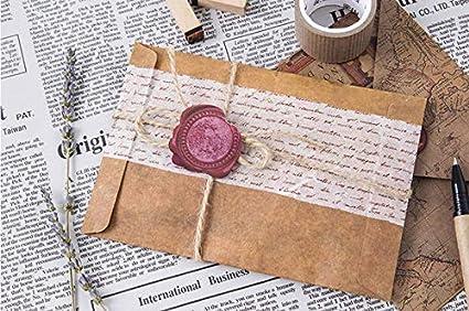 oyfel adhesivo cera Barra de sello Vintage para carta para Garcon niña mujer infantil viaje recortes álbum de cumpleaños boda Bapteme coche 45 pcs Color aleatorio: Amazon.es: Hogar