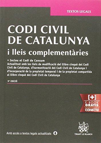 Descargar Libro Codi Civil De Catalunya I Lleis Complementàries 9ª Edició 2015 Judith Solé Resina
