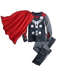 Lemonkid® Baby Thermal Underwear Set Children 100% Cotton Suit Pure Color Pajamas for Boy