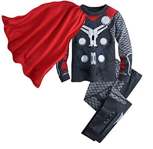 [Baby] Thermal Underwear Set Children 100% Cotton Suit Pure Color Pajamas for Boy,Thor 140cm/ fit 5-6 T -  Lemonkid®