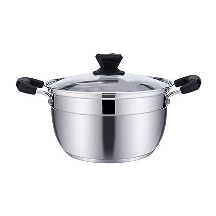 LULUDP Batería de cocina Sartenes y ollas Estofado de olla de sopa ...