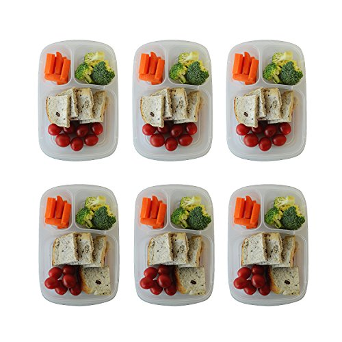prefer green 3 compartment bento lunch box containers multi color portion control containers. Black Bedroom Furniture Sets. Home Design Ideas