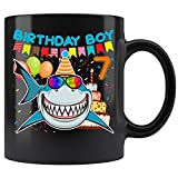 Shark 7 Years Old Mug - Boy 7th Birthday Gift For Kids Coffee Mug 11oz Gift Tea Cups 11oz