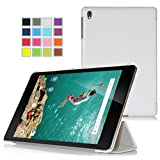 Asuxtek ® HTC Nexus 9 8.9 inch 2014 release version tablet Ultra-Thin Multi-angle Stand Slim Smart Cover Case with Auto sleep / wake Fuction [Lifetime warranty], only fit HTC Nexus 9 (For Nexus 9-White)