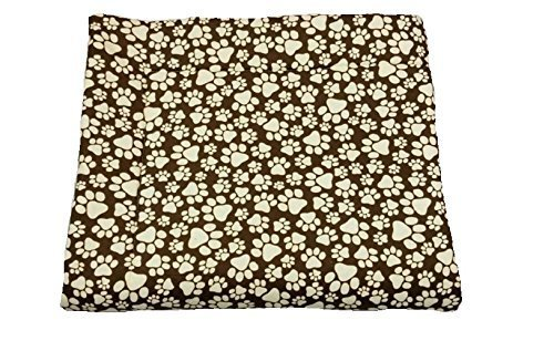 Sherpa dog blanket with brown paw print 35'' x 40''