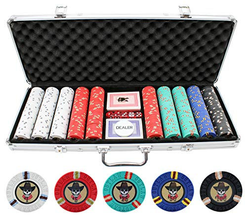 Versa Games 13g Outlaw Clay Poker Chips Set - 500 Piece Set (Best Clay Poker Chips)