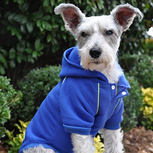 "Doggie Design Nautical Blue Hooded Sweatshirt for Dogs in Size 2XL (Chest 32"", Neck 22"", Back Length 26""L)]()"