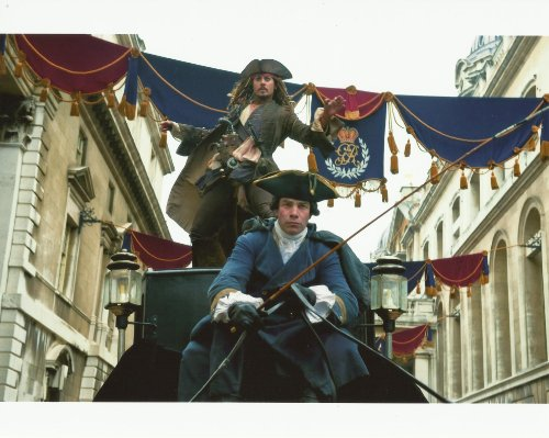 Johnny Depp Pirates of the Caribbean On Stranger Tides 8x10 Movie Photo the big chase scene