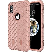 iPhone X Case,TACOO Dual Layer TPU+PC Heavy Duty Protective Durable Rugged Anti-Slip Grip [Shockproof Bumper] Cover for Apple iPhone 10 2017
