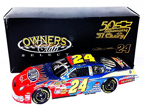 AUTOGRAPHED 2007 Jeff Gordon #24 DuPont Racing 50TH ANNIVERSARY (1957 Chevy Tribute) Hendrick Motorsports Owners Club Select Version Signed Action 1/24 NASCAR Diecast Car with COA (149 of only 288 produced!)