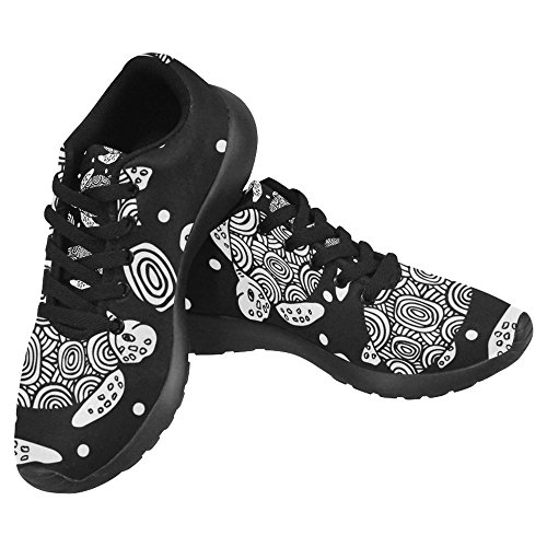 InterestPrint Womens Jogging Running Sneaker Lightweight Go Easy Walking Casual Comfort Sports Running Shoes Black Line Sea Turtle Multi 1 U01dlrUw