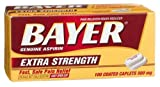 Bayer Extra Strength Caplets 500mg, 100-Count Caplets
