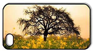 Hipster Cheap price iPhone 4S cover spring flowers tree PC Black for Apple iPhone 4/4S by Maris's Diary