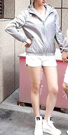 Lasher Womens Lightweight Windbreaker UV Protect Coat Hooded Zip Up Sport Jacket
