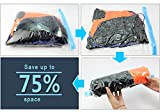 Yoption 8 Pcs Travel Luggage Roll-Up Compression Bags (No Vacuum Needed), Space Saving Bags, Perfect for Travel, Work and Home Storage (Mix size)