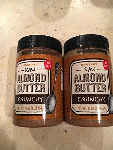2 Packs Trader Joe's Almond Butter Raw Crunchy Unsalted 16 Oz