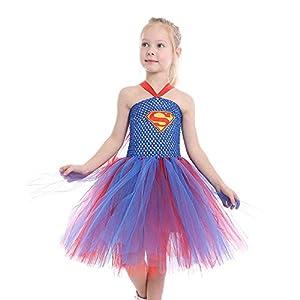 - 51YA7um09vL - Dream-Store Little Girls Costume Dress Halloween Super Girls Cosplay Dress Costumes for Toddler and Girls