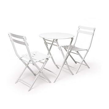 YCSD Table Et Chaise De Jardin Pliantes, Meubles De Jardin De Bistro ...