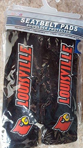 Louisville Belt - Fremont Die NCAA Louisville Cardinals Seat Belt Pads, One Size