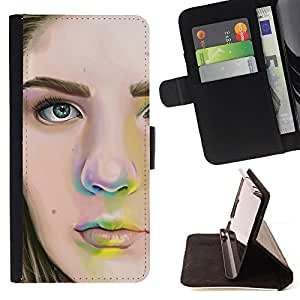 Jordan Colourful Shop - Girls Portrait For LG G2 D800 - Leather Case Absorci???¡¯???€????€????????????&r
