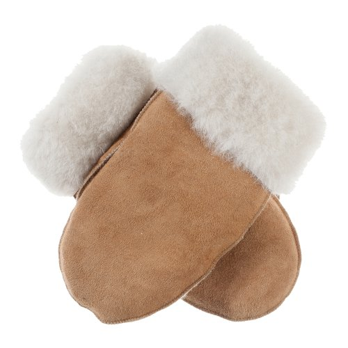 Lundorf Icelandic Lambskin Mittens for Women and Men Lambswool Lining (X-Large for Women) (Small-Medium for Men) 8-8.5 Cognac by Lundorf