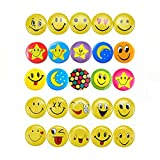 Mini Mental Smiley Smile Face Button Pins for Decoations, Classroom rewards, Birthday Party/Celebrations-1.2 Inch Size - 60 Pack
