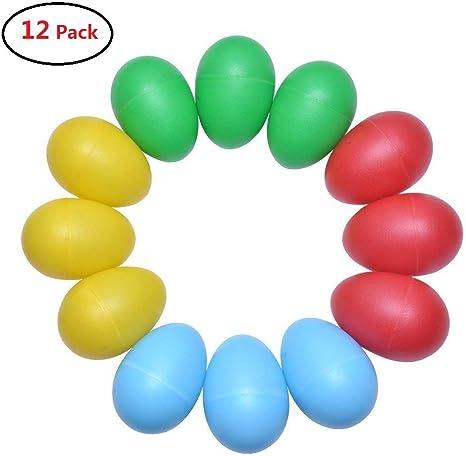 Tougo Juego de 12 juguetes musicales de percusión, maracas de ...