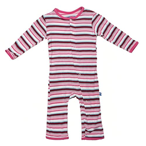 Kickee Pants Print Coverall (Baby) - Bobsled Stripe-3-6 Months