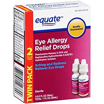 Eye Allergy Drops >> 2 Pack Equate Eye Allergy Relief Drops Itching And Redness Reliever