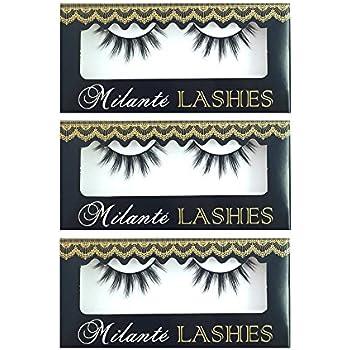 a3cd482372f Milanté BEAUTY 3 Pair Pack Tease Real Mink False Lashes Black Natural Thick  Long Full Reusable Fake Strip Eyelashes