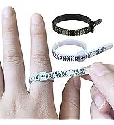 2 PCS Plastic Ring Sizer Measuring Set Finger Measurer Jewelry Sizing Tools Gauge Measure Tool 1-...