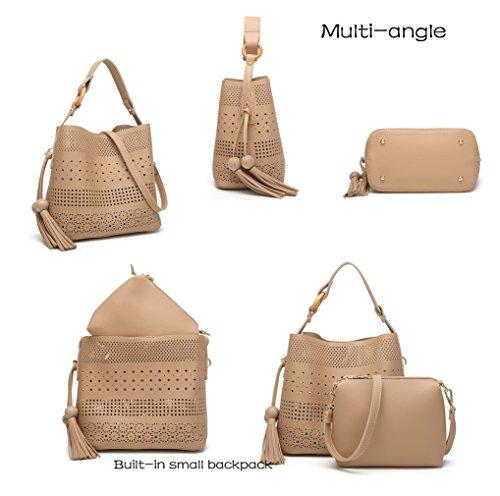1 gzaspunb18 OL Pink 3 HopeEye borsa Pelle bianco a Ms tracolla Donna Pu HPw1xqwfU