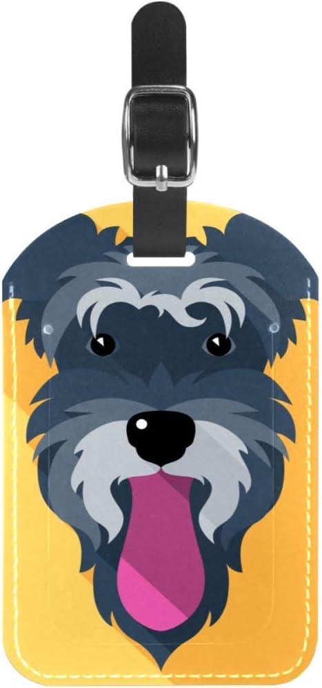 Etiquetas para Equipaje con Lengua de Perro y Cara de Piel para Maleta de Viaje, 1 Paquete