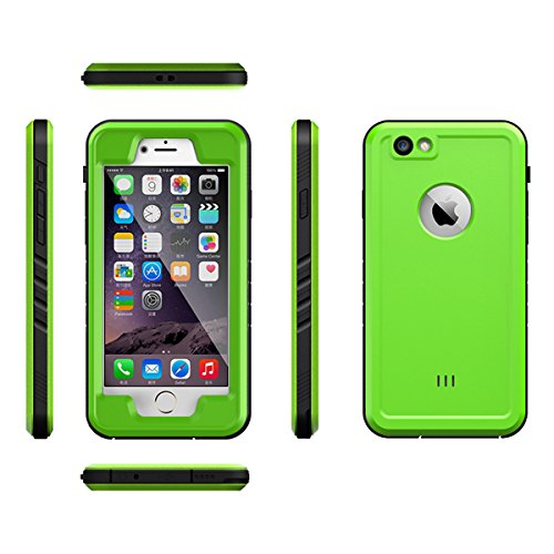 iPhone 6 Waterproof Case, FugouSell Full Body Rugged Shockproof Dirtproof IP68 Certified Waterproof Clear Case with Screen Protector for iPhone 6 (Green)