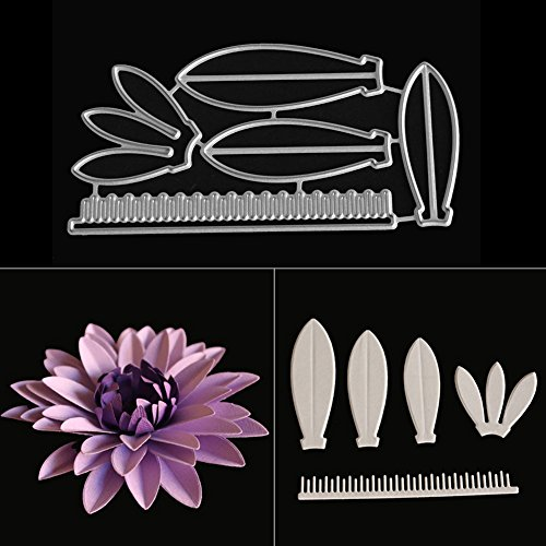 opOpb213IL Cutting Dies Stencil DIY Scrapbooking Embossing,Flower Petals Metal Cutting Dies for DIY Greeting Card Scrapbooking Decoration - Silver