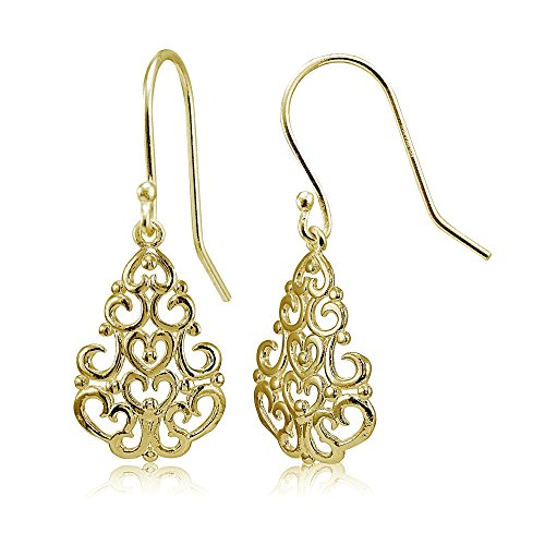 Yellow Gold Chandelier Dangle - 3
