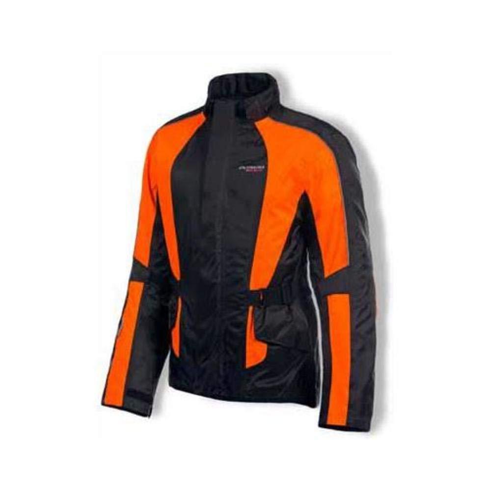 Olympia Moto Sports Unisex Horizon Neon Orange Rain Jacket, XS
