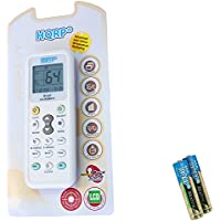 HQRP Universal Remote Control Compatible with LG LW6511R LW7010HR LW7012HR Air Conditioner + HQRP Coaster
