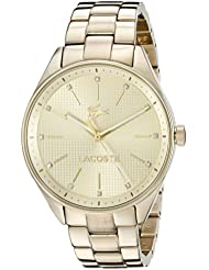 Lacoste Womens 2000898 Philadelphia Analog Display Japanese Quartz Gold Watch