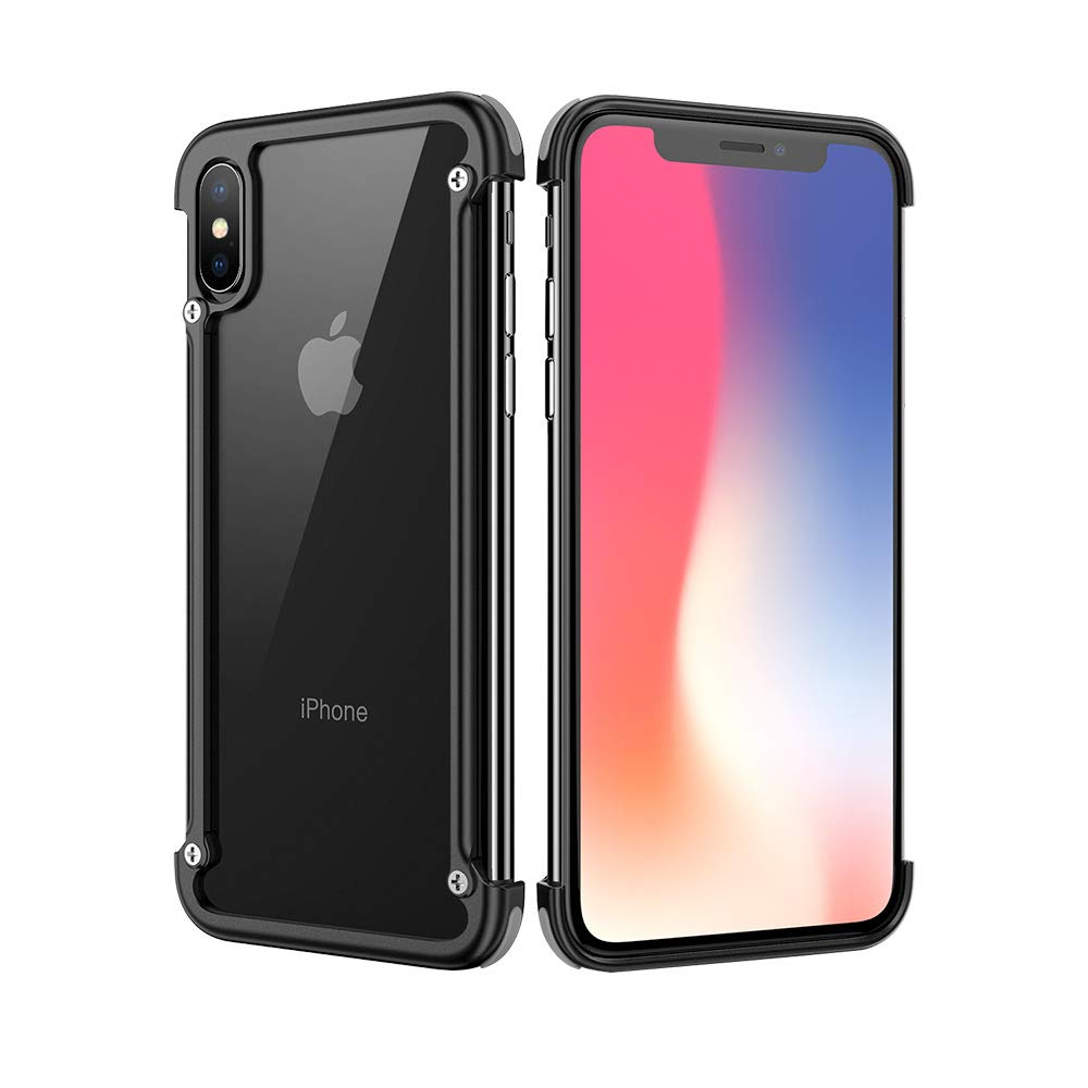 finest selection 1a949 3fb5f OATSBASF Aluminum Metal Bumper Case for iPhone Xs Max, Utral-Thin Edge  Bumpers Cases, Compatible with Xs Max 6.5-inch