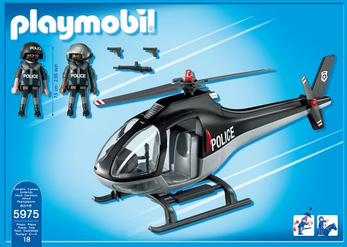 playmobil tactical unit helicopter buy online in uae. Black Bedroom Furniture Sets. Home Design Ideas