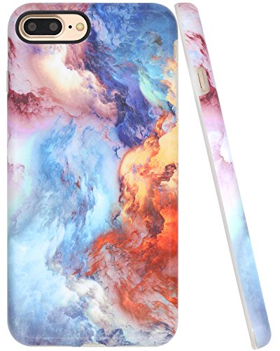 iPhone 7 Plus Case, iPhone 8 Plus Case, A-Focus Factastic Fire Blue Sky IMD Design Frosted Anti-Scratch Flexible Gel Rubber Skin Cover Case for iPhone 7/8 Plus 5.5