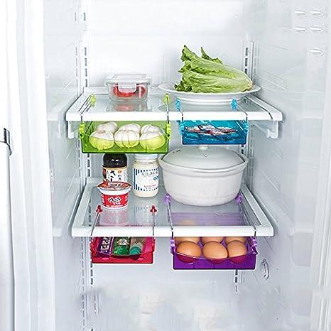 Generic S rojo: nevera estante plástico soporte de almacenamiento ...