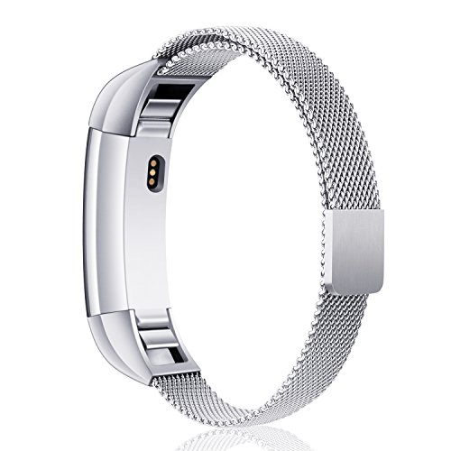 Konikit For Fitbit Alta and Alta HR Magnetic Bands, Band Milanese Loop Stainless Steel Metal Replacement Bracelet Strap, Wristbands Accessories for Women Men