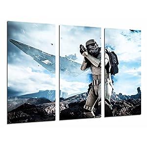 Cuadros Camara Fotográfico Star Wars Ejercito Darth Vader, Batalla Soldado Nave Tamaño total: 97 x 62 cm XXL, Multicolor 7